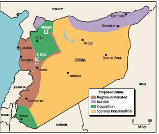Afbeeldingsresultaat voor خارطة مناطق آمنة في سوريا دون حل سياسي يكرس الانقسام